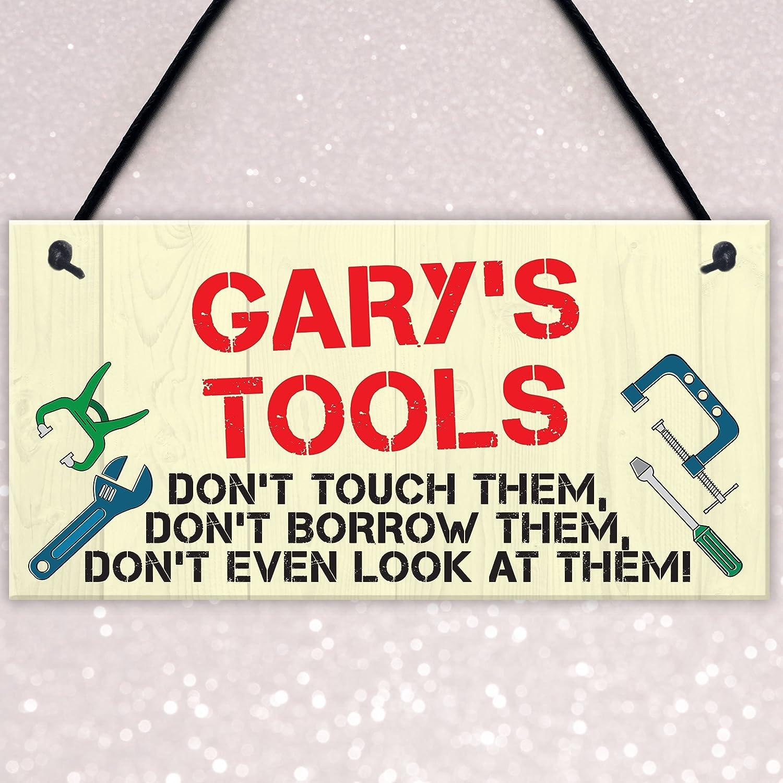 Rojo Ocean placa personalizable de herramientas normas Man Cave garaje cobertizo señal para colgar jardín divertido regalo: Amazon.es: Hogar