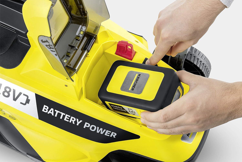 Capacit/à Serbatoio 35 L Durata Batteria 18 V 250 m/² Ampiezza Lama 33 cm esclusa K/ärcher LMO 18-33 Battery Rasaerba Elettrico