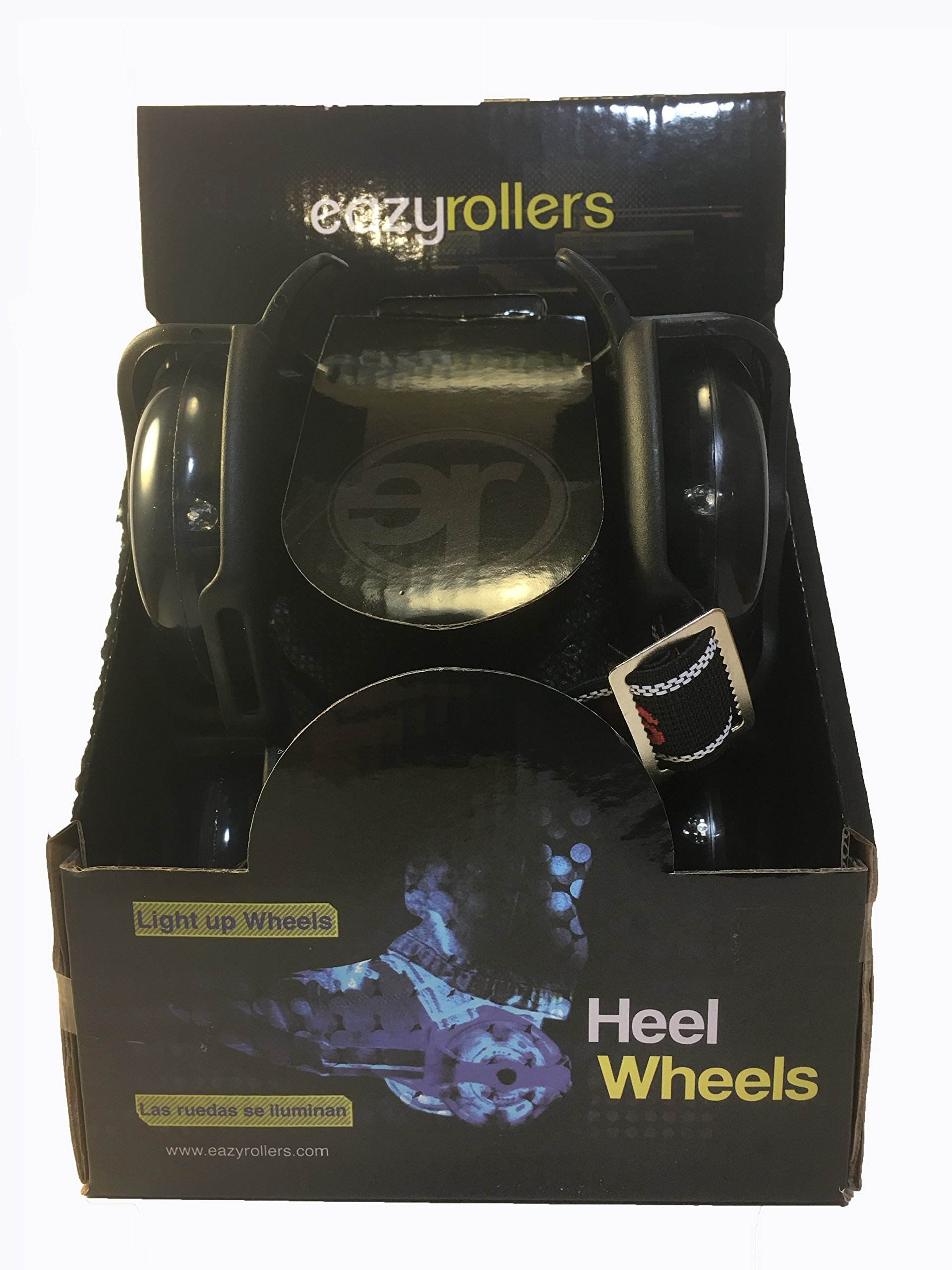 Eazy Rollers Pro Heel wheels Skates for Kids and Adults - Light up Wheels that Require no Battery
