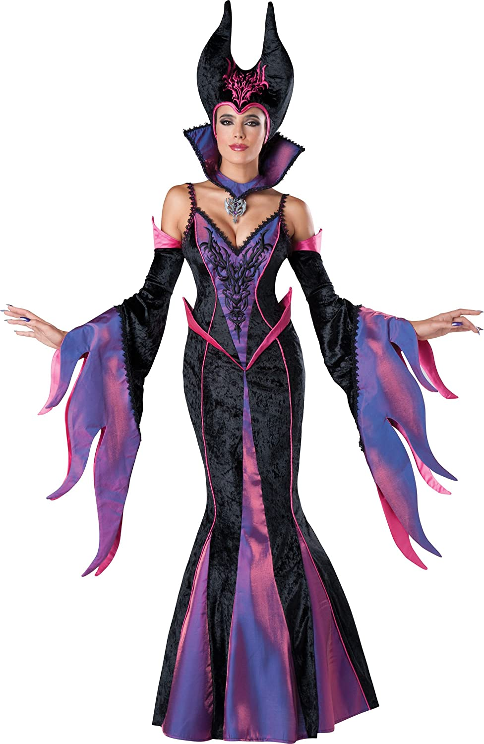 maleficent evil witch sorceress halloween costume dress