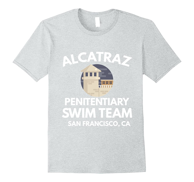 Funny Alcatraz Penitentiary Swim Team San Francisco T-Shirt-FL