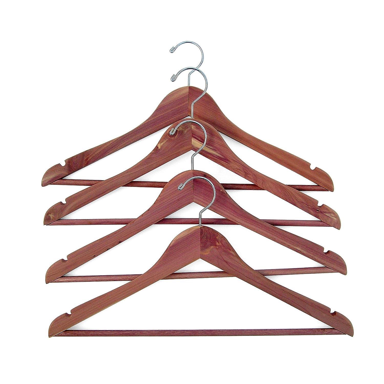 Amazoncom Household Essentials 26140 Cedarfresh Red Cedar Wood Clothes Hangers