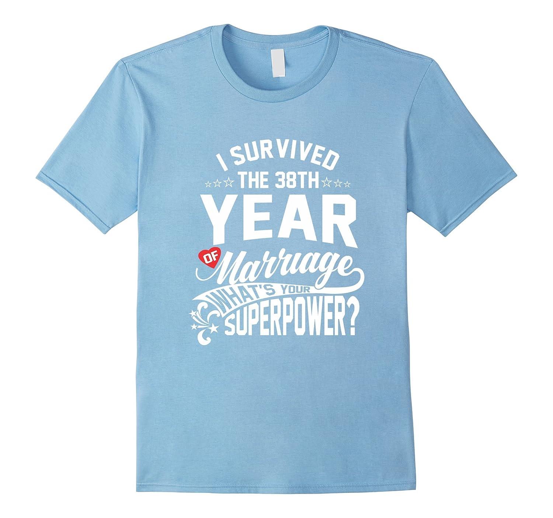 38 Year Wedding Anniversary Gift: Anniversary Gift 38th 38 Years Wedding Marriage T-Shirt