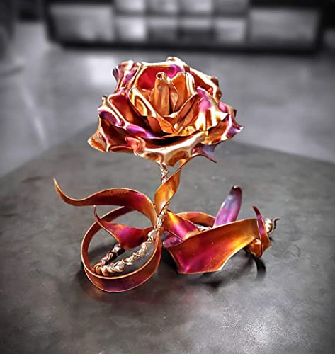"Copper Metal Rose""Thank You"" 1837e *SAVE 15 SEE BELOW* Home Decor Steampunk Wedding Industrial 7th Anniversary Unique Mother's Valentine's Day Christma"