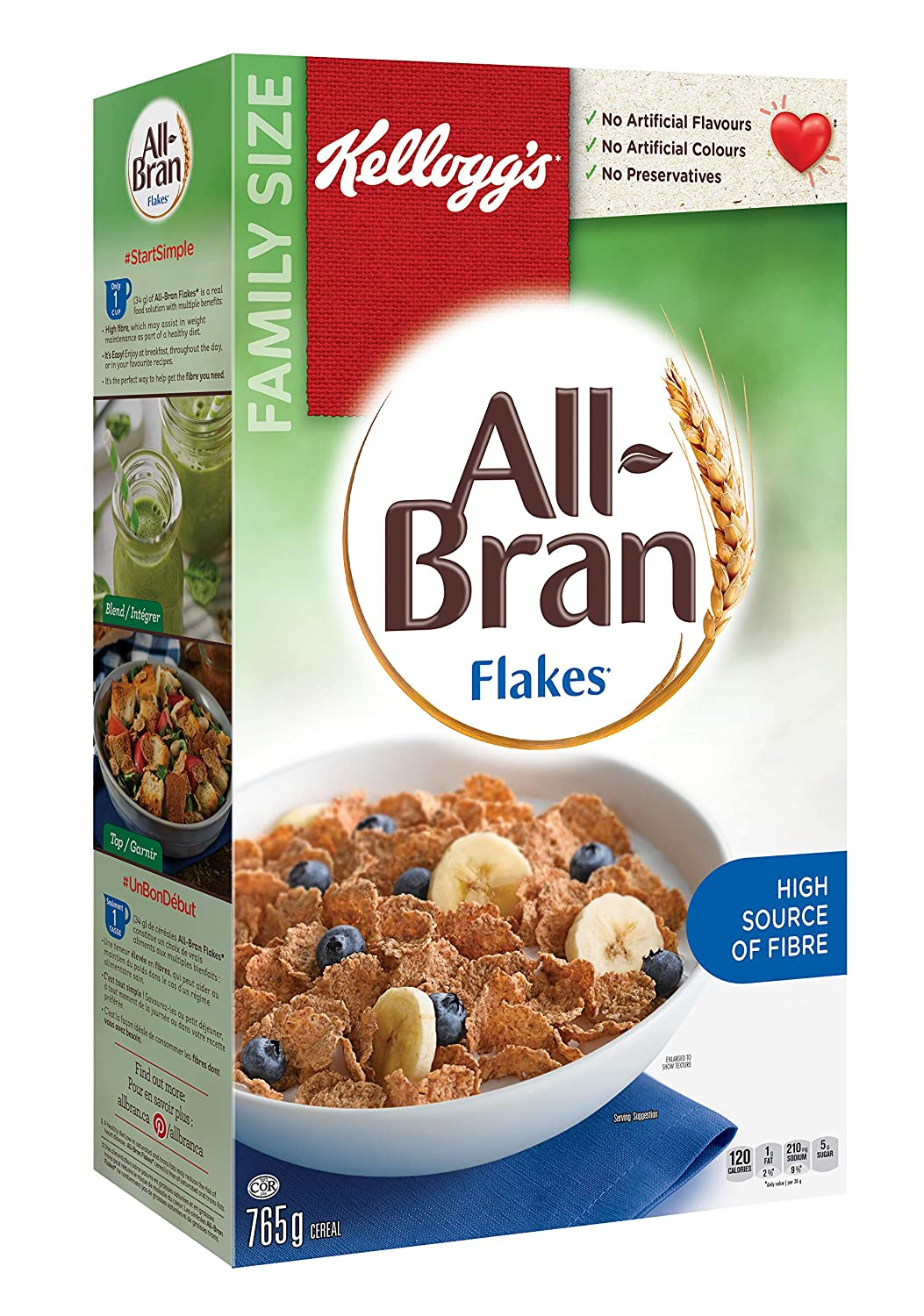 Kellogg's All-Bran Flakes Cereal, 765g, 765g