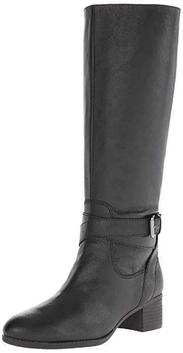 Amazon.com | Nine West Women's Vani Leather Riding Boot | Knee-High