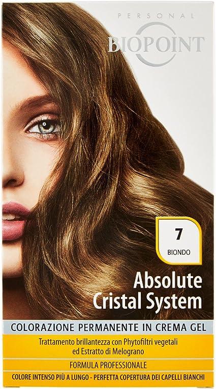 Biopoint Absolute Cristal System - Tinte para el cabello (Color 7 - Rubio - 50 ml)