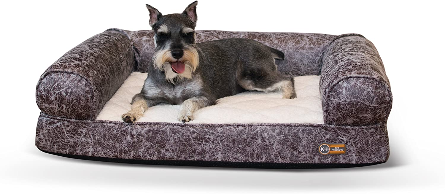 K H Pet Products Bomber Memory Sofa Orthopedic Memory Foam Dog Bed