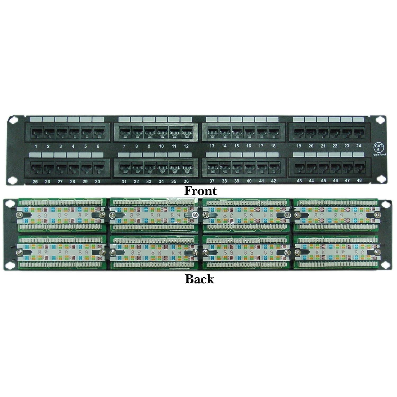 ACL 2ユニットラックマウント48ポートcat6パッチパネル、水平110タイプ568 A & 568b互換 ACL-560242 5  B074TCJCRV