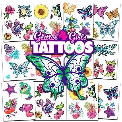 Amazon.com: Crenstone Glitter Tattoos ~ 50 Dazzling Designs ~ Hearts ...
