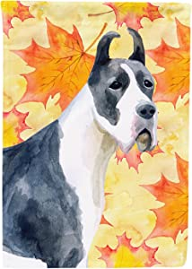 Caroline's Treasures BB9904GF Harlequin Dane Fall Decorative Outdoor Flag, Garden Size Multicolor