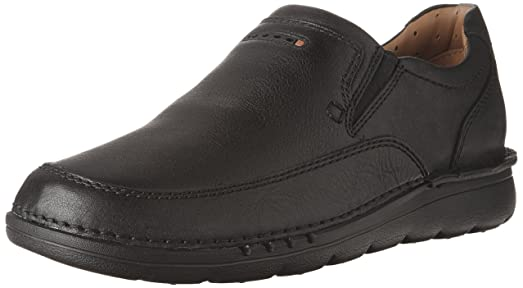 Clarks Men's UnNature Easy Black Leather Loafer