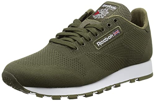 74d5cdcaddf5 Reebok Men s Classic Leather Ultk Trainers Green (Army Green White) 8.5 UK