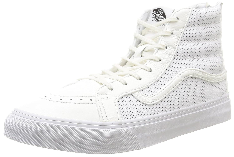 Vans U Sk8-hi Slim Zip Scotchgard, Unisex-Erwachsene Sneakers Weiß (Perf Leder/True Weiß)