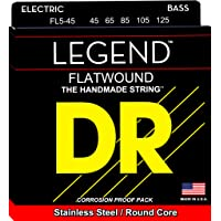 DR Strings Hi-Beam Flats-Flatwound Stainless Steel Round Core 5 String Bass 45-125