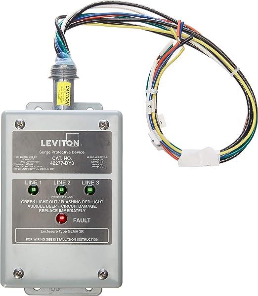 Amazon Com Leviton 42277 Dy3 277 480 Volt 220 380 Volt 3 Phase Wye 240v 480v Delta Panel Protector 4 Mode Protection Nema 3r Enclosure Home Improvement