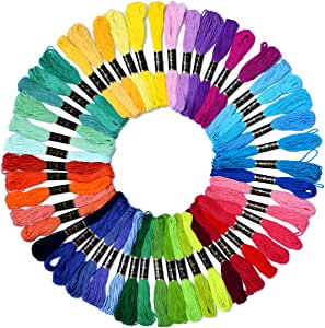 Embroidery Floss Rainbow Color 50 Skeins Per Pack Cross Stitch Threads Friendship Bracelets Floss Crafts Floss