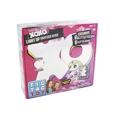 Blip Toys Tic Tac Toy XOXO White Light Up Unicorn Hugs & Glitter Friends: Toys & Games