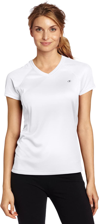 Champion Womens Plus Graphic V-Neck Tee T-Shirt