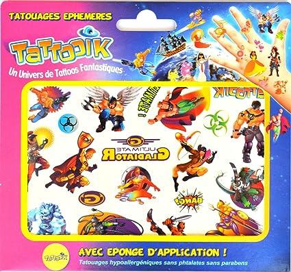 WTD tooik Gladiators ephemere tatuaje hypoallergénique, fabricado ...