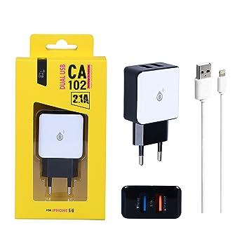 One Plus 801083 - Cargador USB con 2 Puertos (2100 mAh ...
