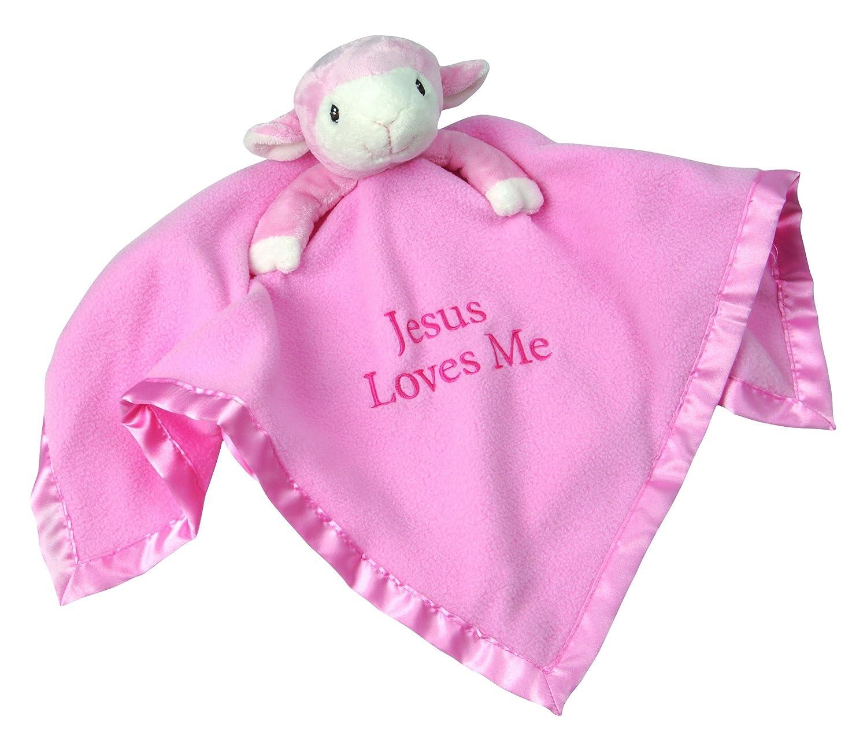 Amazon Com Precious Moments Pink Lamb Stuffed Animal And Blanket