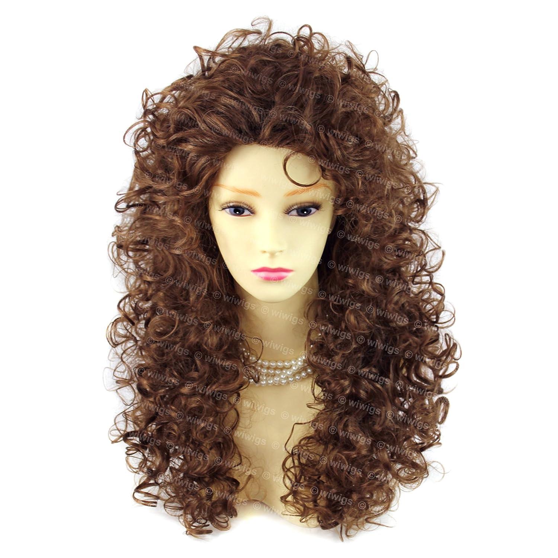 Amazing Sexy Wild Untamed largo rizado luz peluca marrón señoras ...