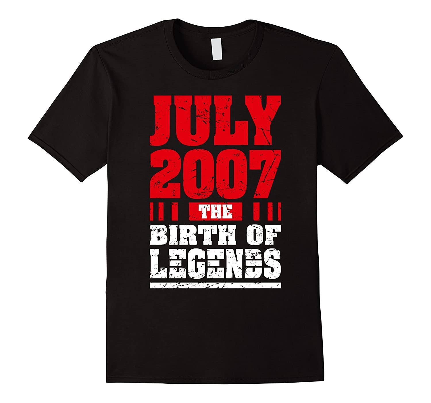 10 Years Old Kid Birthday Gift T-Shirt Born in July 2007 Tee-TH