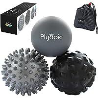 Plyopic Massage Bal Set - Inclusief Rubber, Spiky & Foam Roller Massager Ballen - 7cm Voor Myofasciale Release, Trigger…