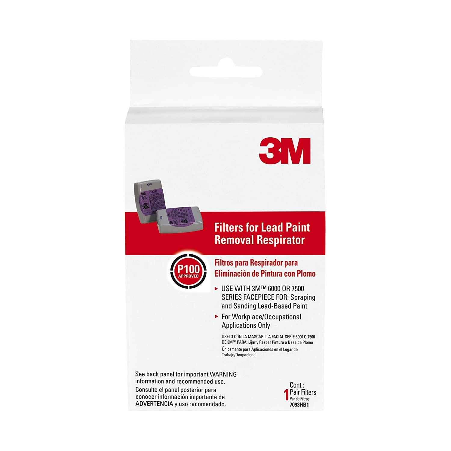3M Filters, Lead Paint Removal Respirator 7093HA1-A