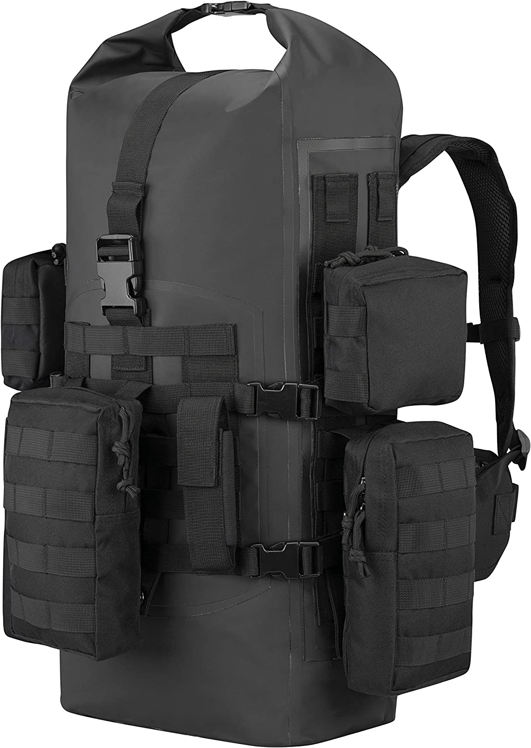 STEALTH 40L Bugout Disaster Survival Backpack - Tactical Waterproof Dry Bag For The Wilderness, Emergencies, Camping, Hiking and Backpacking
