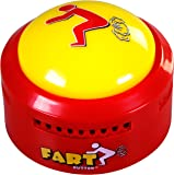 Fart Button - Play 20 Funny Poop Noise and Farting Sounds - Giant Yellow Sound-Maker Button Flashes and Lights Up…