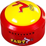 Fart Button - Play 20 Funny Poop Noise and Farting Sounds - Giant Yellow Sound-Maker Button Flashes and Lights Up - Hilarious