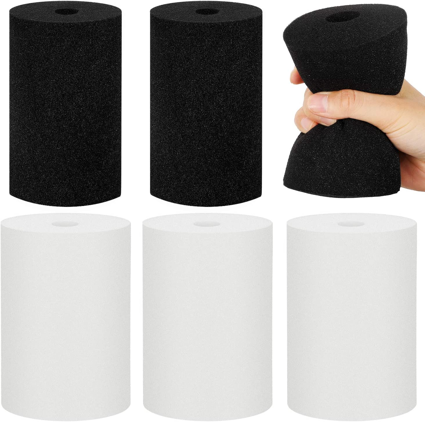 Flexible Foam for 10 oz to 40 oz Skinny and Common Tumblers Crafting Cup Turner Foam Inserts White Black Work with 3//4 Inch PVC Pipe Weewooday 6 Pieces Foam for Cup Turner