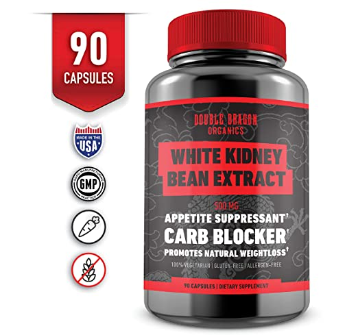 White Kidney Bean Extract - 100% Pure Carb Blocker and Fat Absorber for Weight Loss - Double Dragon Organics