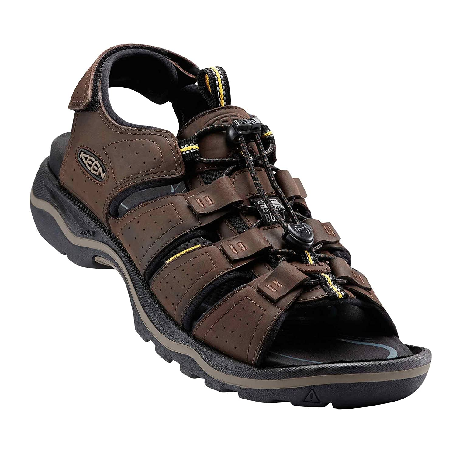 KEEN Men's Rialto Open Toe, Sandal for The Outdoors B01H8MHHIK 9 D(M) US|Black/Neutral Gray
