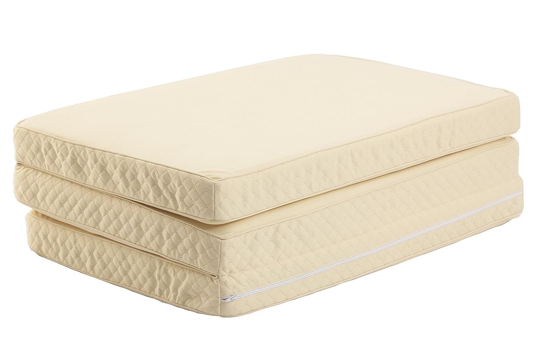 源ベッド 高密度三つ折りポケットコイルマットレス セミシングル xm14-ss B01LALDTN2 セミシングル  セミシングル