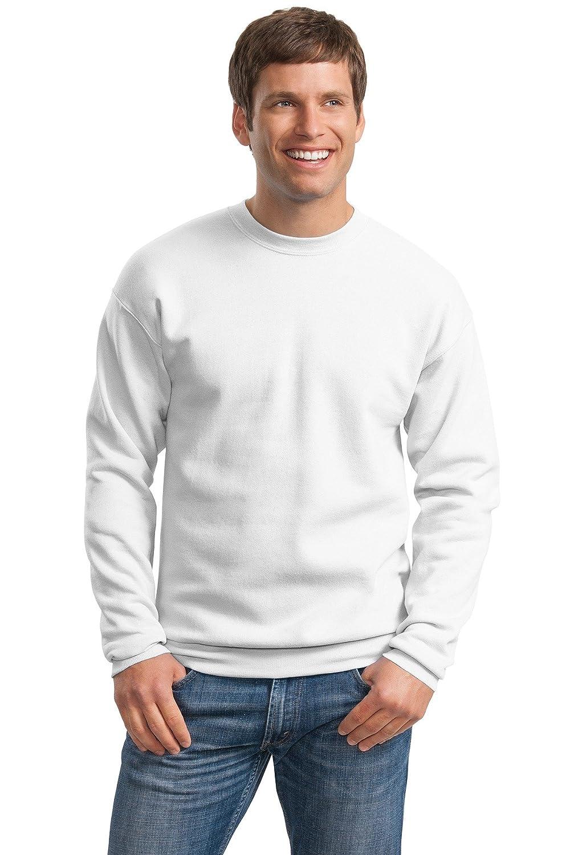 Hanes Mens ComfortBlend EcoSmart Crewneck Sweatshirt, 2XL, White P160