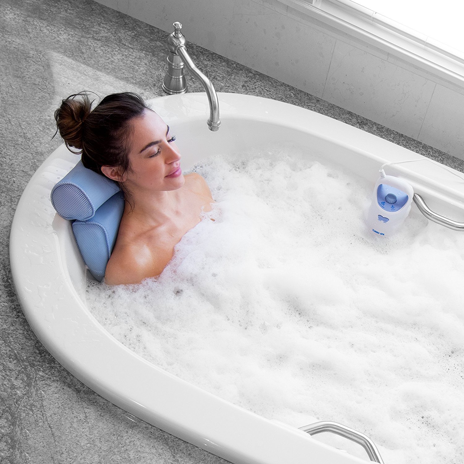 Bodyhealt Home Spa Jacuzzi Bath Set, Gentle Massage Jet with Spa Pillow