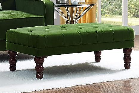Swell Novogratz Vintage Tufted Ottoman Green Pabps2019 Chair Design Images Pabps2019Com
