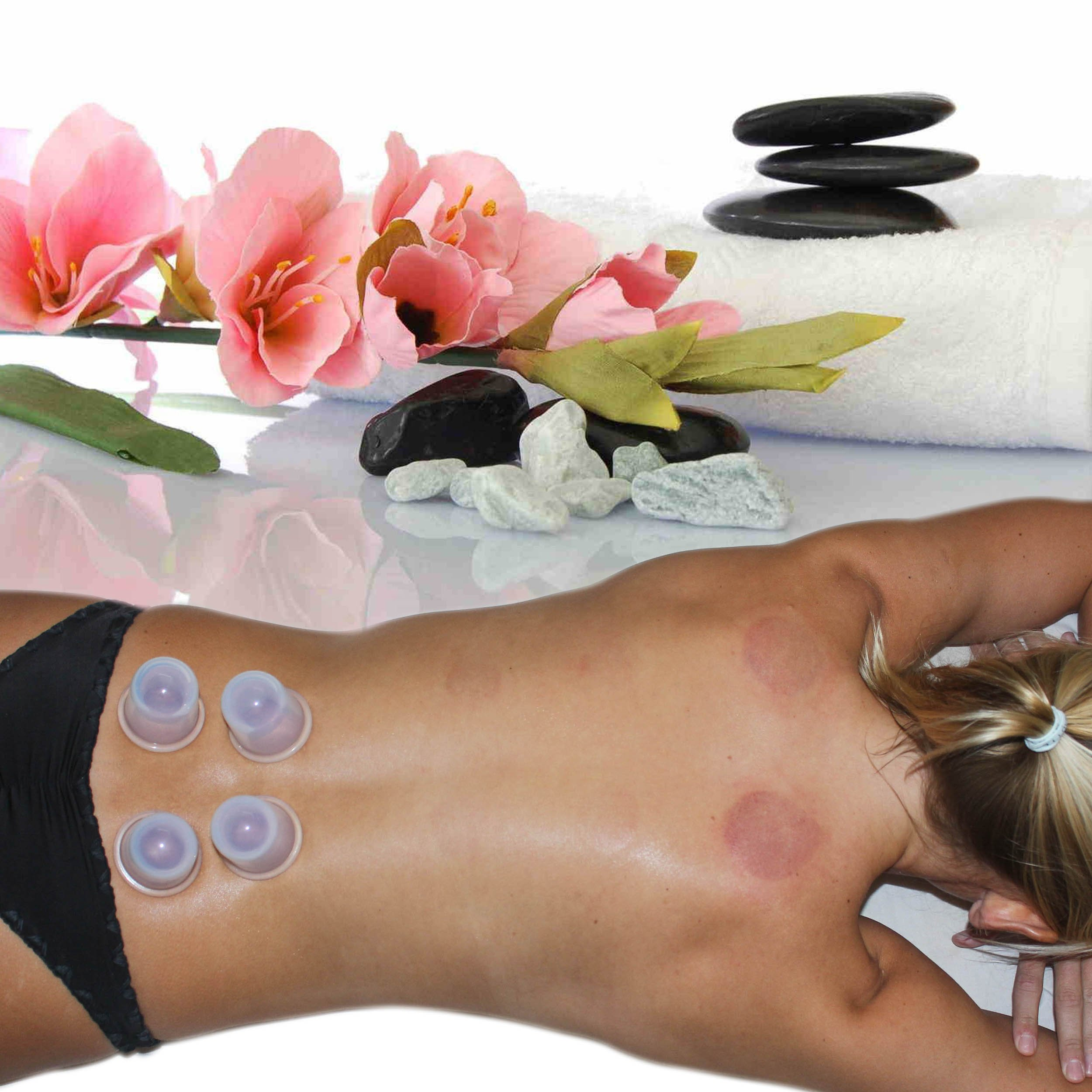 Acupuncture Massage Fireless Cupping Therapy Set By DoSensePro. Ergonomic, Flexible Medical Grade Silicone 6 Vacuum Cups For Arthritis, Pain Relief, Relaxation, Anti-Aging & Cellulite Treatment by DoSensePro (Image #8)
