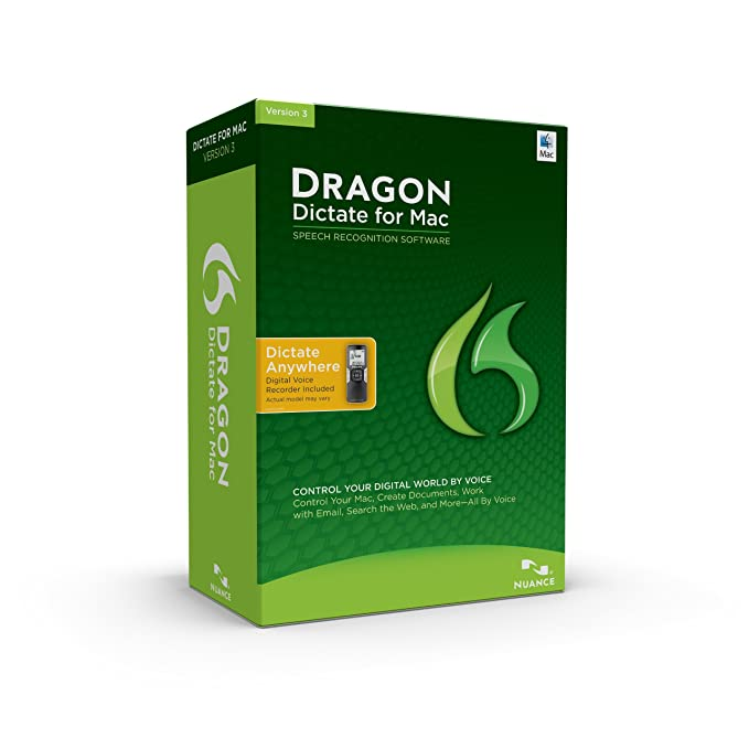 Dragon Dictate for Mac 3 0, with Digital Voice Recorder (Old Version)