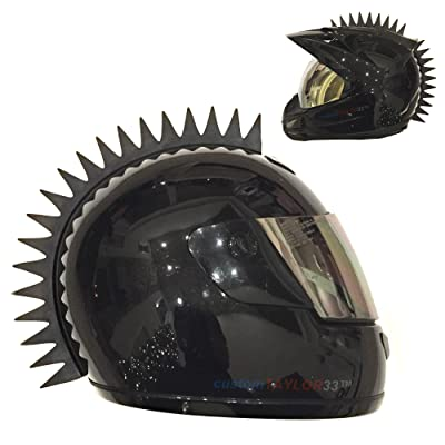 customTAYLOR33 Even Spikes Rubber Mohawk Helmet Accessory Piece (Helmet Not Included): Automotive