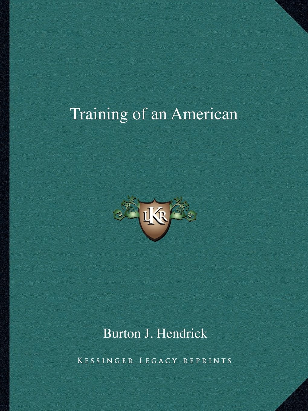 Read Online Training of an American pdf