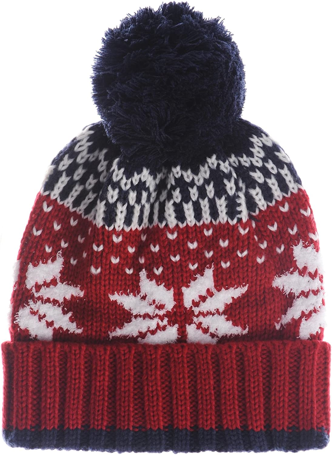 THE HAT DEPOT Thick Womens Square Sherpa Lining Beanie Winter Hat