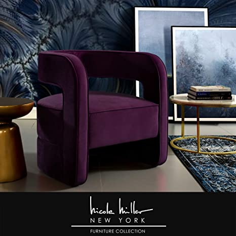 Awe Inspiring Amazon Com Nicole Miller Neil Accent Chair Velvet Bralicious Painted Fabric Chair Ideas Braliciousco