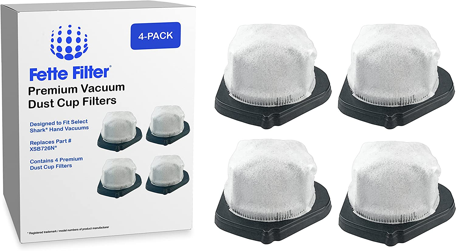 Fette Filter - Vacuum Dust Cup Filters Compatible with Shark. Compare to Part # XSB726N