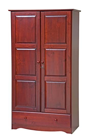 Merveilleux 100% Solid Wood Universal Wardrobe/Armoire/Closet By Palace Imports,  Mahogany Color
