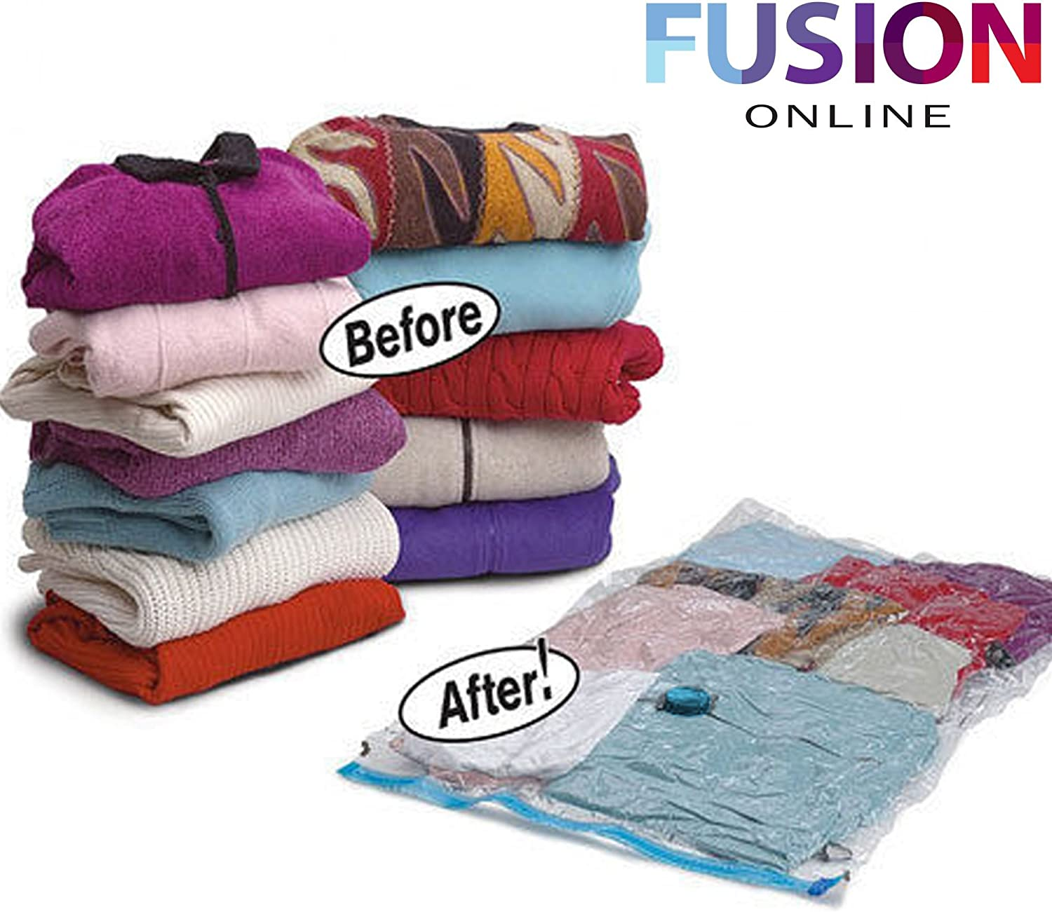 Blankets Curtains XX Pillows Clothes EVELYN LIVING 90 x 130 Pack Of 6 Vacuum Storage Bags Sealed Compressed Organiser Space Saving Ideal For Travel Bedding LARGE Size Duvets
