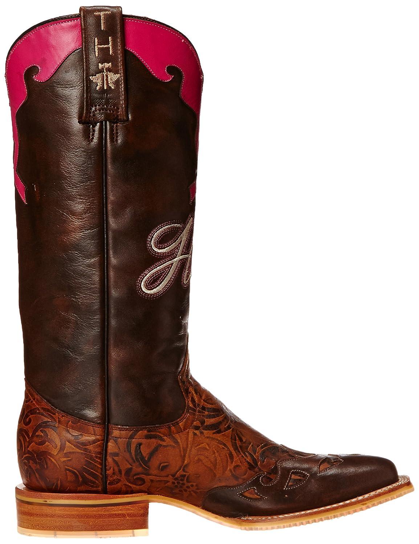 Tin Haul Shoes Women's Hope Western Boot B00WHUQVSG 8.5 B(M) US|Brown/Pink